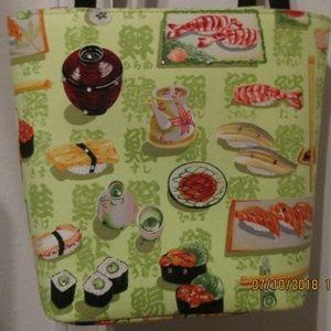 Sushi design purse handbag tote 1338